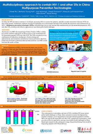Multidisciplinary approach to contain HIV-1 and other STIs in China: Multipurpose Prevention Technologies