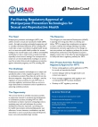 Facilitating Regulatory Approval of Multipurpose Prevention Technologies for Sexual and Reproductive Health