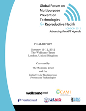 Global Forum on Multipurpose Prevention Technologies for Reproductive Health