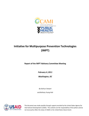 Initiative for Multipurpose Prevention Technologies (IMPT):  Advisory Committee Meeting