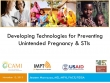 Developing Technologies for Preventing Unintended Pregnancy & STIs