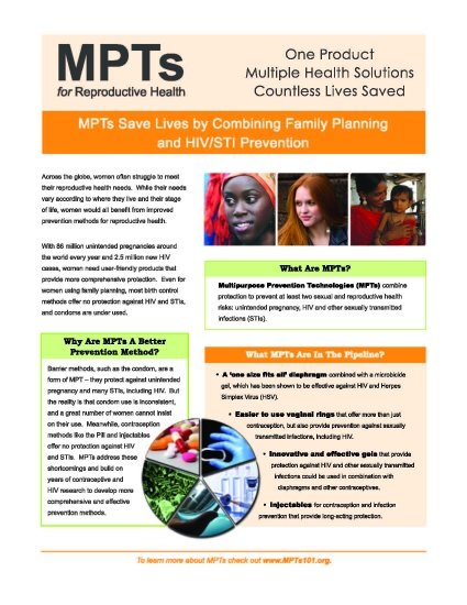 MPTs for Reproductive Health