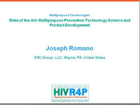 State of the Art: Multipurpose Prevention Technology Science and Product Development