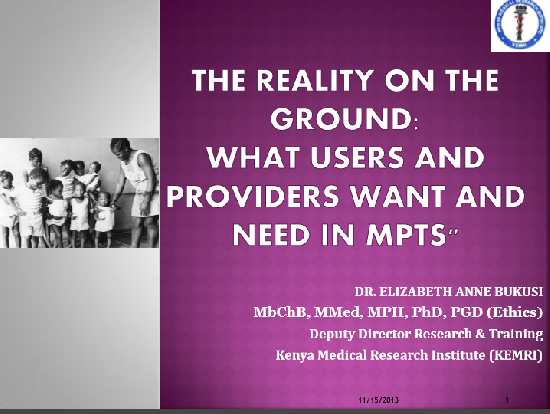The Reality on the Ground: What Users and Providers Want and Need in MPTs