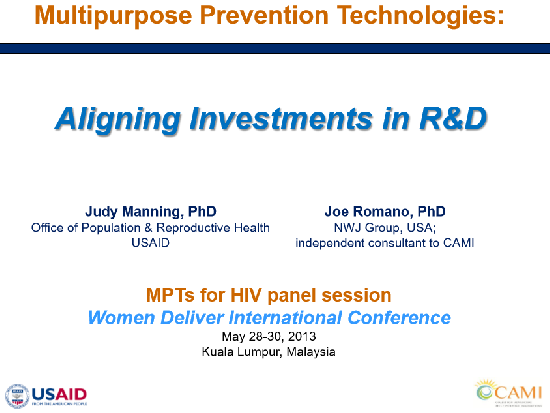 Aligning investments in MPT Research & Development