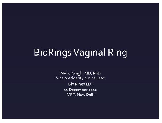 BioRings Vaginal Ring