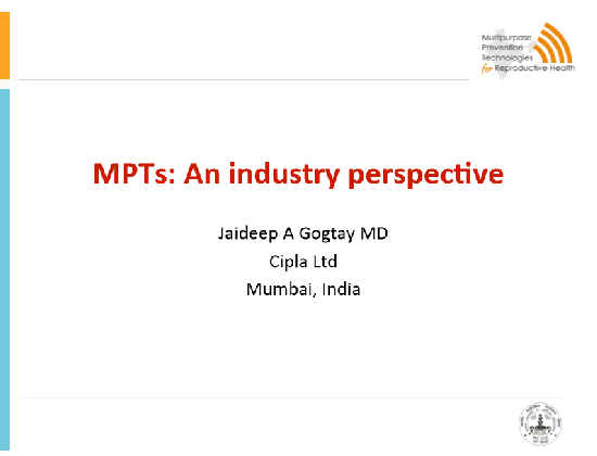 MPTs: An industry perspective