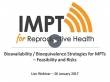 Bioavailability/Bioequivalence Strategies for MPTs - Feasibility and Risks