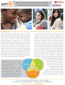 MPTs: Building momentum through awareness-raising and advocacy