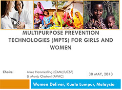 Multipurpose Prevention Technologies (MPTs) for Girls and Women